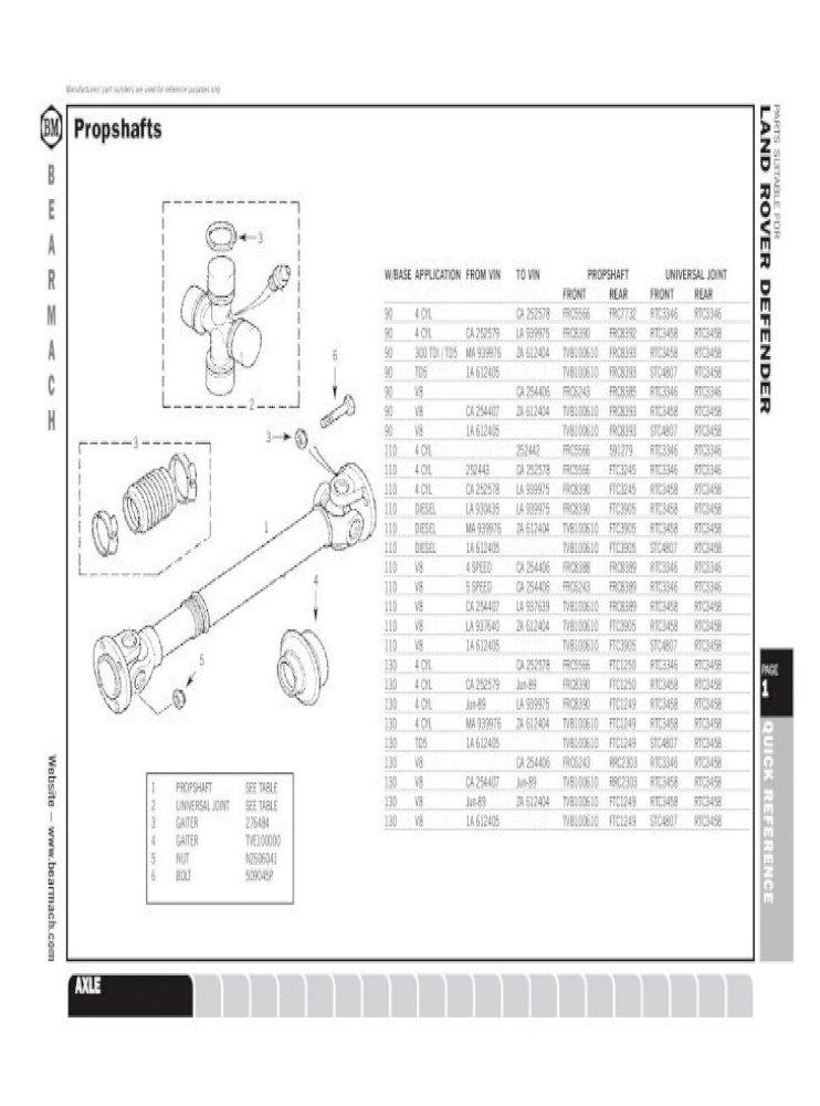 BEARMACH ESR3737 Gasket Exhaust Front Pipe