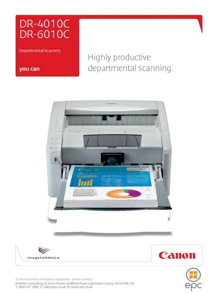 Canon Dr6010c Brochure Epc Optional Flatbed Scanner Unit 101 Is Desktop A4 Flatbed Scanner Option Ccd Sensor 1200dpi Led Rgb Canon Dr6010c Brochure Keywords Pdf Document